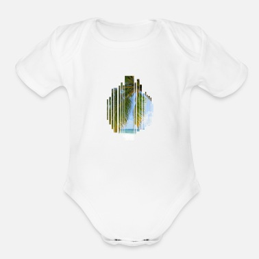 Palm Trees Palm tree - Organic Short-Sleeved Baby Bodysuit