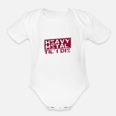 Heavy heavy metal - Organic Short-Sleeved Baby Bodysuit