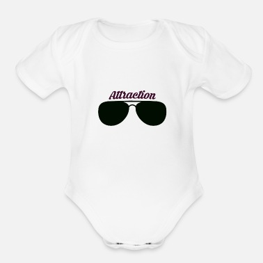 Attractive Sunglass Attraction - Organic Short-Sleeved Baby Bodysuit
