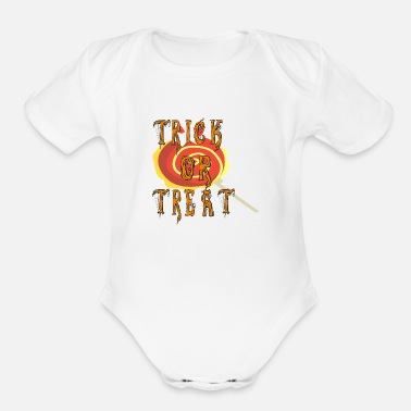 Trick Or Treat Trick or Treat - Organic Short-Sleeved Baby Bodysuit