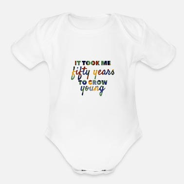50th Birthday 50th Birthday - Organic Short Sleeve Baby Bodysuit