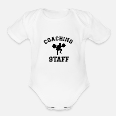 Staff Coaching Staff Fitness Workout Bodybuilding - Organic Short Sleeve Baby Bodysuit