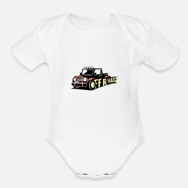 Official Person Truck off road - Organic Short Sleeve Baby Bodysuit