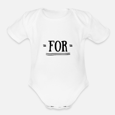 Together For together with - Organic Short-Sleeved Baby Bodysuit