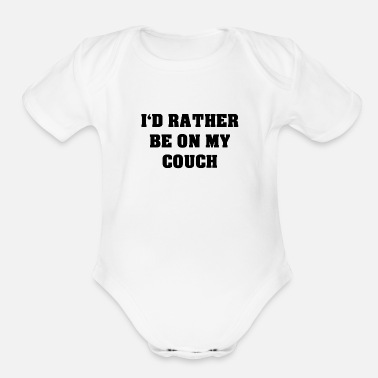 Couch Couch - Organic Short-Sleeved Baby Bodysuit