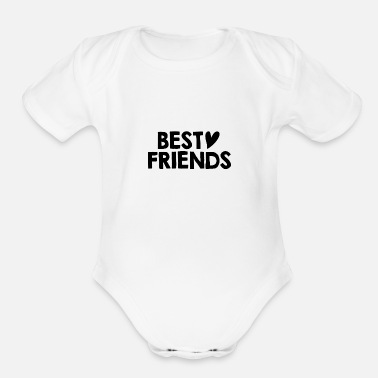 Bff (HOT) BEST FRIENDS HEARTLY GIRLS BFF EDITION - Organic Short-Sleeved Baby Bodysuit