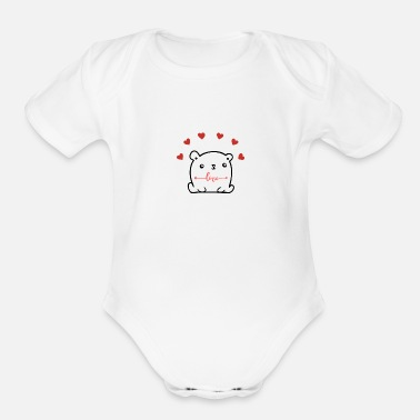 Love Couples - Organic Short-Sleeved Baby Bodysuit