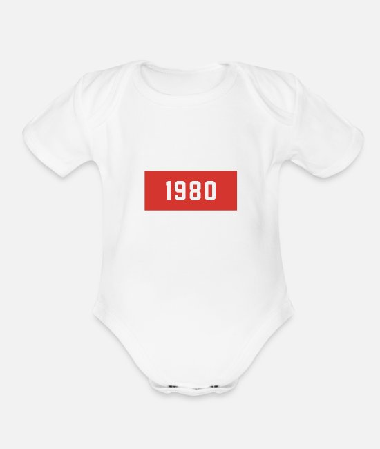 Coming Of Age Baby One Pieces - 1980 - Organic Short-Sleeved Baby Bodysuit white