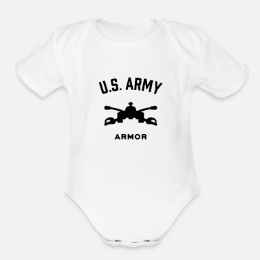 Schland US Army Armor - Organic Short-Sleeved Baby Bodysuit