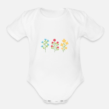 Nature Environmental protection gift environment flowers - Organic Short-Sleeved Baby Bodysuit