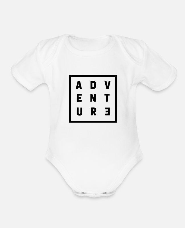 Nature Baby One Pieces - Adventure - Organic Short-Sleeved Baby Bodysuit white