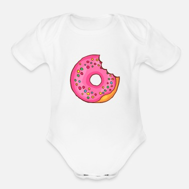 Confiserie Donuts Bakery Cookie Candy Sweets Cake Confiserie - Organic Short-Sleeved Baby Bodysuit