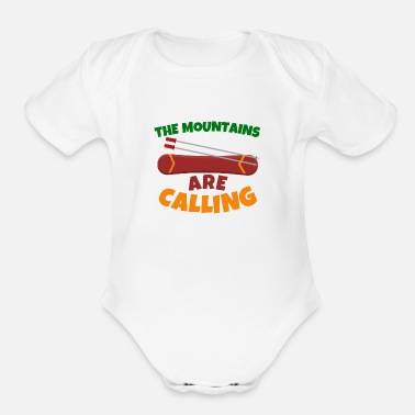 Ski Resort Snowboard Skiing Resort Vacation Wintersports Gift - Organic Short Sleeve Baby Bodysuit