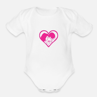 Mothers And child - Organic Short-Sleeved Baby Bodysuit