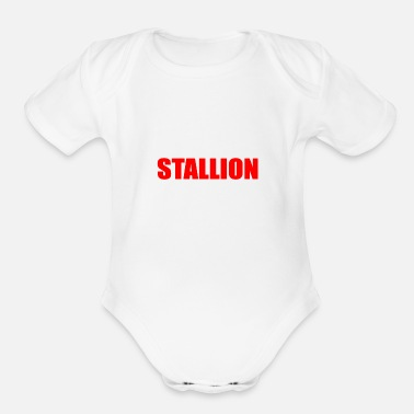 Stallion stallion - Organic Short-Sleeved Baby Bodysuit