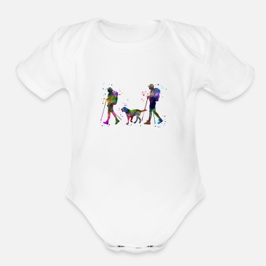 Couples Traveling as a couple, couple, couple traveling - Organic Short Sleeve Baby Bodysuit