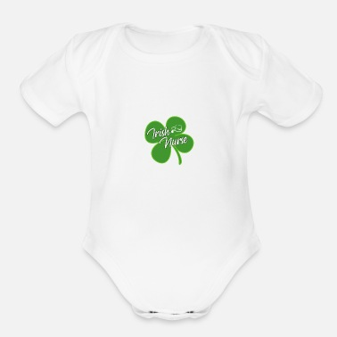 Emergency Irish Nurse - Organic Short-Sleeved Baby Bodysuit