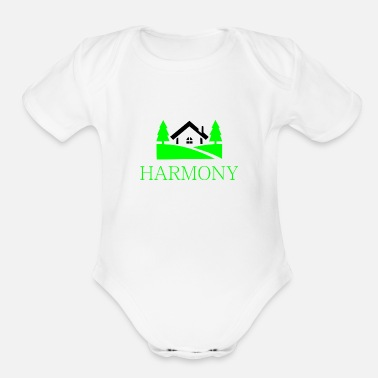 Countryside home in the countryside - Organic Short-Sleeved Baby Bodysuit