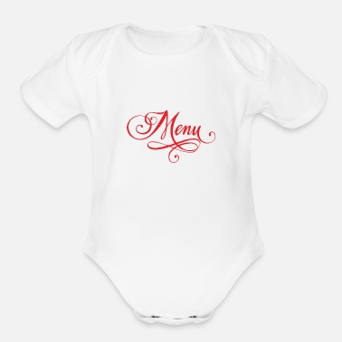 Menu food menu - Organic Short-Sleeved Baby Bodysuit