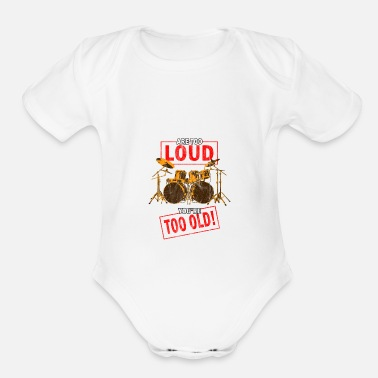 Performer heartbeat instrument music musical musician - Organic Short-Sleeved Baby Bodysuit