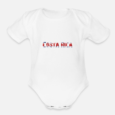 National Colours Costa Rica - National Colours - Flag - Slogan - Organic Short-Sleeved Baby Bodysuit