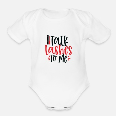 Make Up Talk Lashes To Me - Organic Short-Sleeved Baby Bodysuit