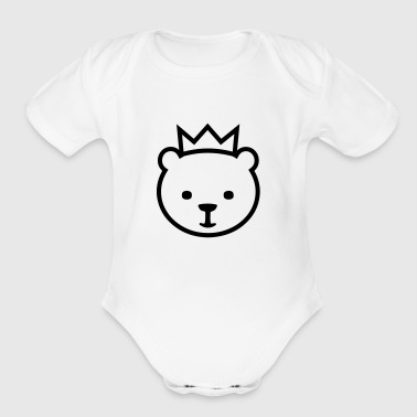 Berlin Berlin bear - Organic Short Sleeve Baby Bodysuit