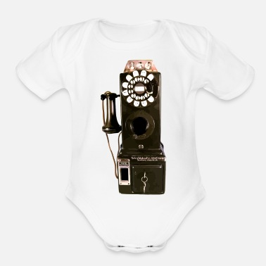 Pay pay phone - Organic Short Sleeve Baby Bodysuit