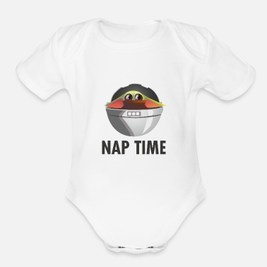 Prunk The yoda Child Nap Time - Organic Short-Sleeved Baby Bodysuit