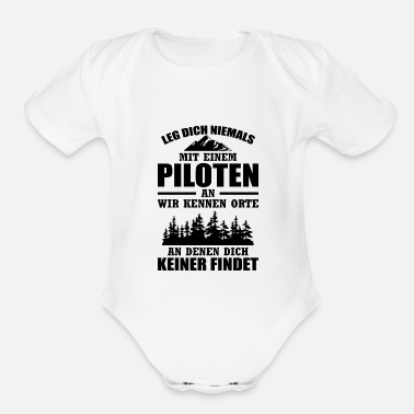 Model Airplane Pilots airplane gift copilot aviation - Organic Short-Sleeved Baby Bodysuit