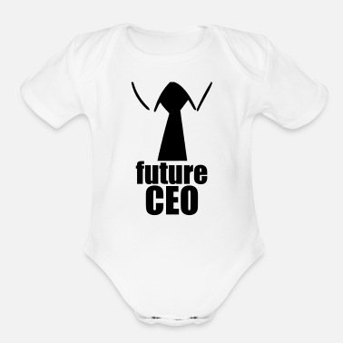 Baby Shower Future CEO - Organic Short-Sleeved Baby Bodysuit