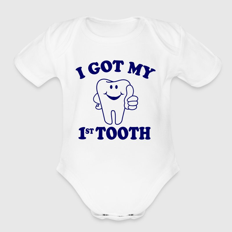 I Got My First Tooth - Organic Short Sleeve Baby Bodysuit