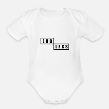 Endless endless - Organic Short-Sleeved Baby Bodysuit