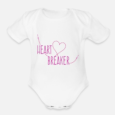 Heart Bre heart breaker - Organic Short-Sleeved Baby Bodysuit