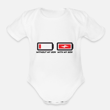 Son Mother and son - Organic Short-Sleeved Baby Bodysuit