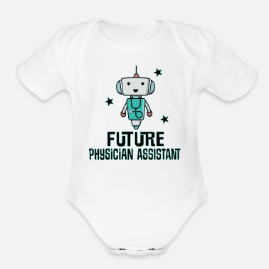 Assistant Future Physician Assistant - Organic Short-Sleeved Baby Bodysuit