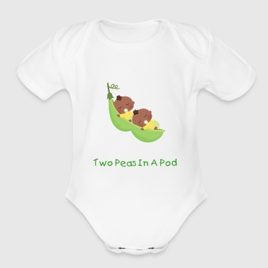 African American Twin Pea - Short Sleeve Baby Bodysuit