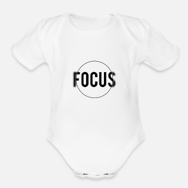 Attractive Center of Attraction - Organic Short-Sleeved Baby Bodysuit