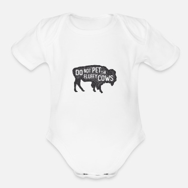 Outdoor, hiking, funny design - Organic Short-Sleeved Baby Bodysuit