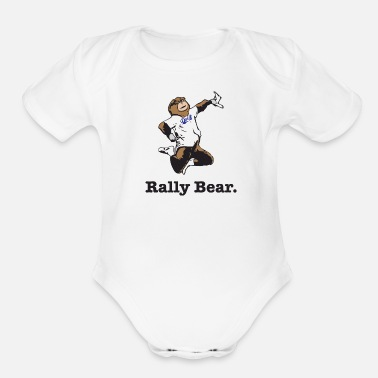 Rally Rally Bear - Organic Short Sleeve Baby Bodysuit