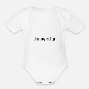 Provocation Provocative Shirt - Look in the mirror. - Organic Short Sleeve Baby Bodysuit