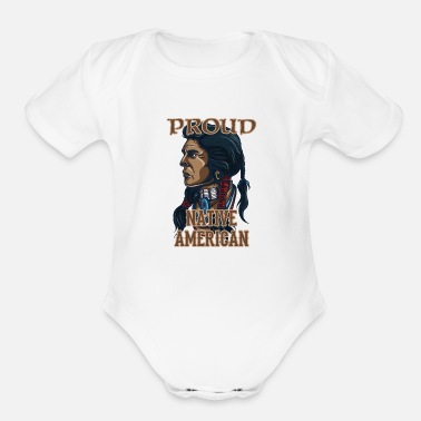 Proud Native American Proud Native American - Organic Short-Sleeved Baby Bodysuit