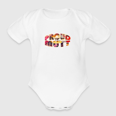 proud to own a mutt - Short Sleeve Baby Bodysuit