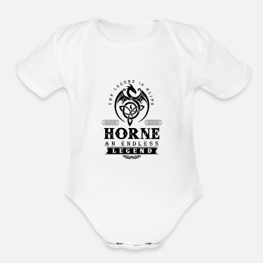 Horns HORNE - Organic Short Sleeve Baby Bodysuit