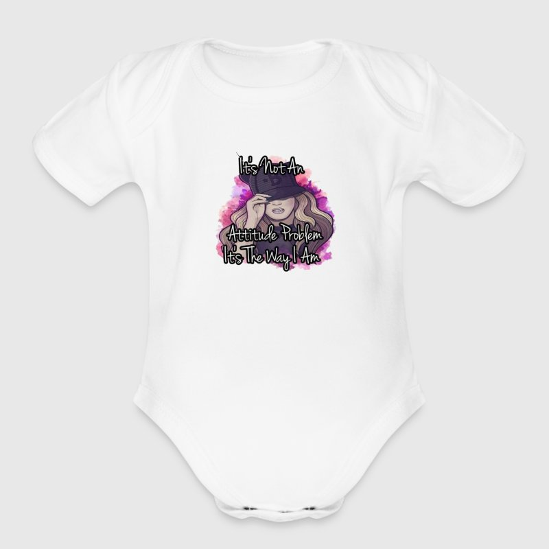 SOC MOB BAD CHICK - Organic Short Sleeve Baby Bodysuit