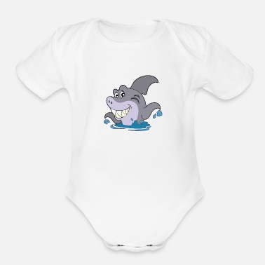 Sea Animal sea animals - Organic Short-Sleeved Baby Bodysuit