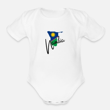 National Colours Namibia - Africa - Windhuk - National Colours - Organic Short-Sleeved Baby Bodysuit