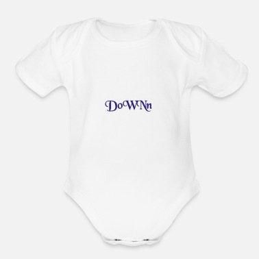 Down - Organic Short-Sleeved Baby Bodysuit