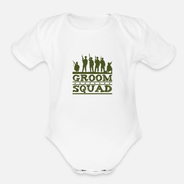 Groom Squad Groom Squad - Organic Short-Sleeved Baby Bodysuit