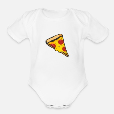Pizza Pizza - Organic Short-Sleeved Baby Bodysuit